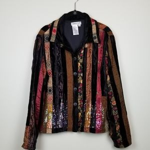 Pretty embellished Coldwater Creek sequin jacket